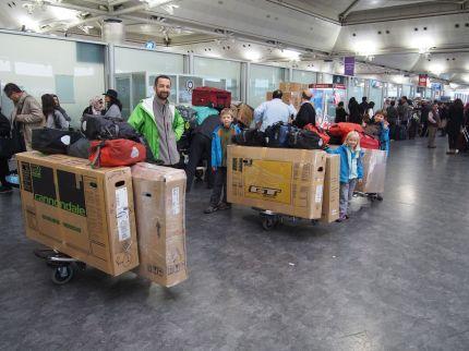 Quelques bagages à enregistrer...