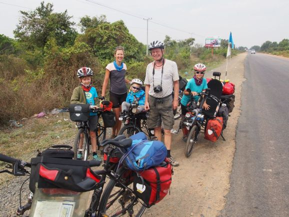 Une autre de nos multiples rencontres avec un cyclotouriste