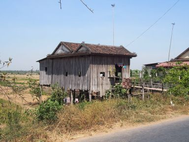 Habitation type le long du Mékong