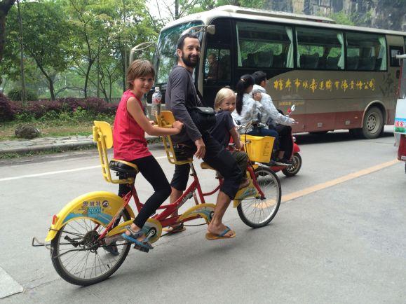 A Yangshuo on essaye de nouveaux vélos