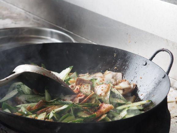 Cuisine au wok évidemment