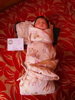 Une carte pour un bébé