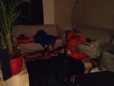 Couchsurfeurs en pleine action!