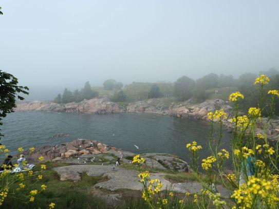 Sur l'île, le brouillard arrive vite