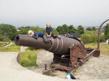 Un gros canon à escalader