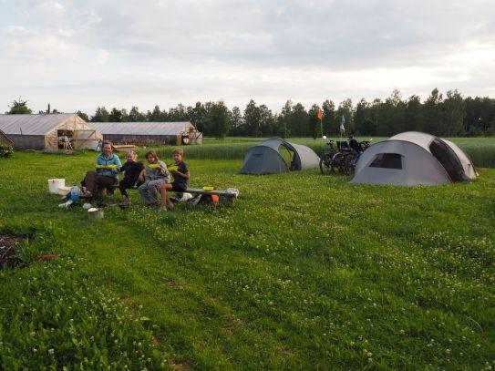 Camping chez un horticulteur