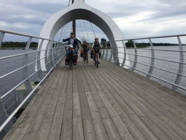 Un pont juste pour cyclistes