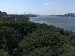 A peine quitté Manhattan...