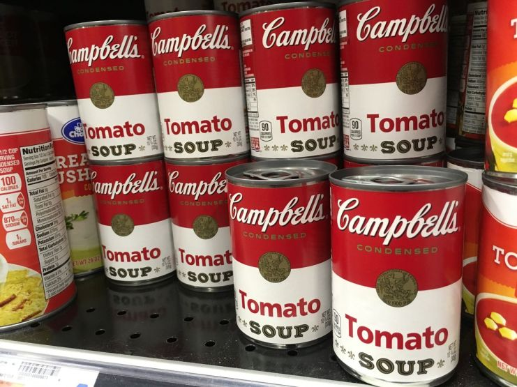 Œuvre d'art dans les rayons des supermarchés !