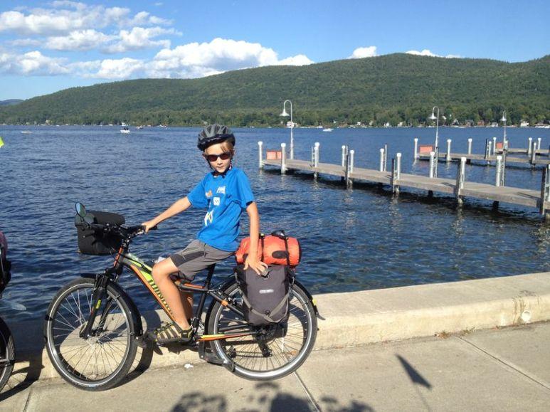Arrivée au bord du lac George