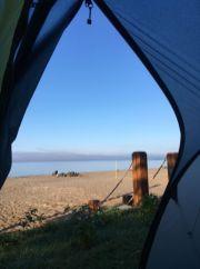 Nous ne pouvions rêver meilleure place au bord du lac St-Jean