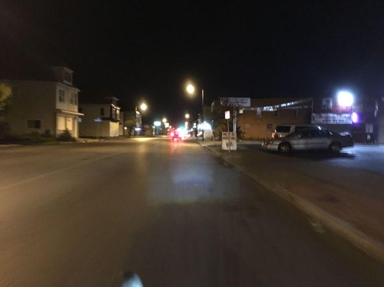 17km by night pour rejoindre la gare