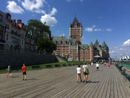 Passage et visite de la ville de Québec