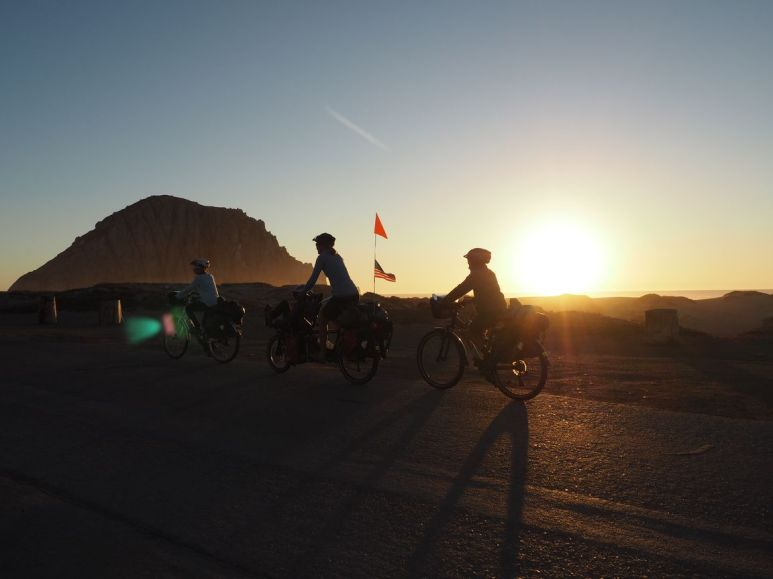 Arrivée à Morro Bay au soleil couchant
