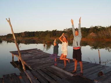 Séance yoga avant de repartir