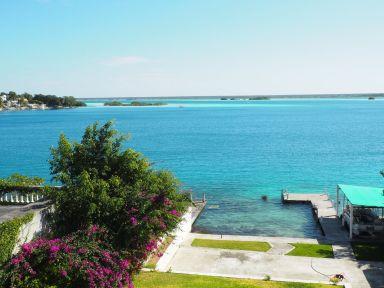 vue sur la lagune depuis la maison