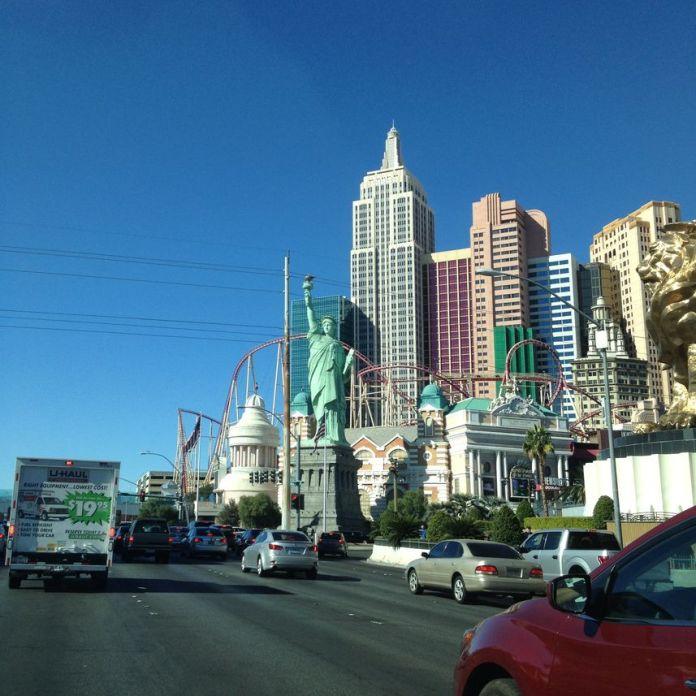 Départ de Las Vegas en camion de loc
