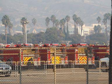 Les pompiers sont présents en masse