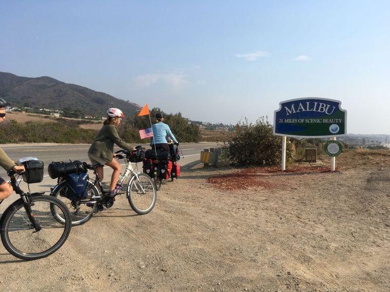Nous arrivons à Malibu