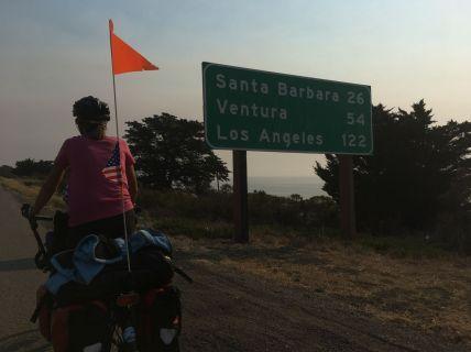 En arrivant à Santa Barbara...