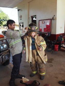 encore un accueil chez des pompiers