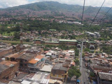Vue de Medellin du téléphérique