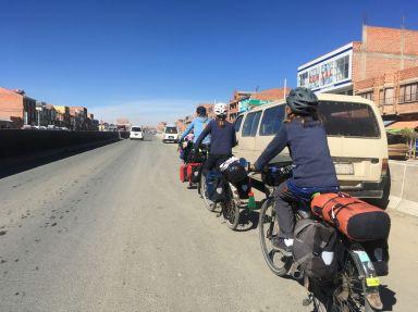 Arrivée sur la ville haute de La Paz