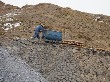La mine est toujours très active