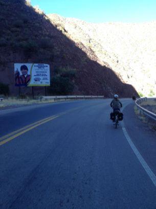Evo Moralles, le président bolivien est souvent présent sur le bord de la route