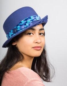 chapeau feutre bleu 2