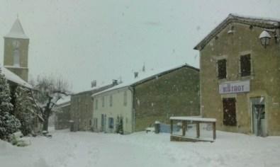 Le Bistrot sous la neige
