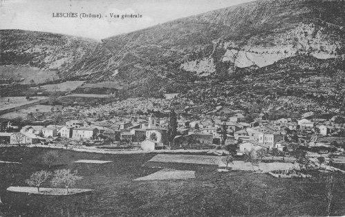 Lesches-en-Diois Village et champs