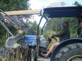 Philippe sur le tracteur Chaitieu