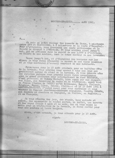 Texte promotion 15.08.1961
