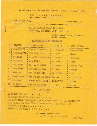 Tiercé de chèvres 1964