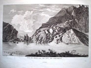 Petit lac de Luc XVIII ème s Dessin de Le May Gravure de François Née
