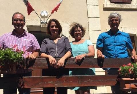 Visite de Célia de Lavergne à Lesches-en-Diois