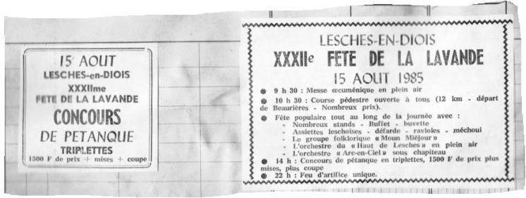 Annonces JDD 15.08.1985