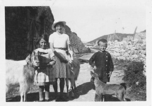 Les chèvres vers 1936