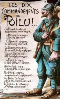 Les dix commandements du Poilu