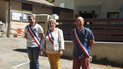 Le Maire et les deux adjoints 05.07.2020
