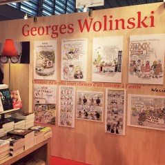Hommage à Georges Wolinski sur le stand Seuil