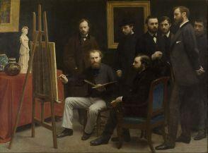 Un atelier aux Batignolles, 1870