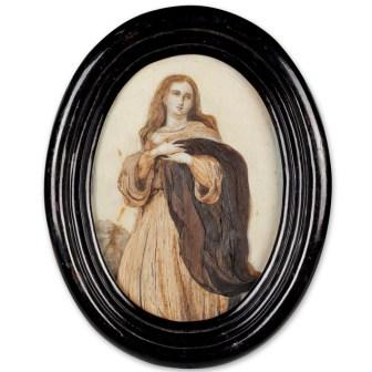 Bijou de cheveux, ca. 1850, Musée Frederic Marès