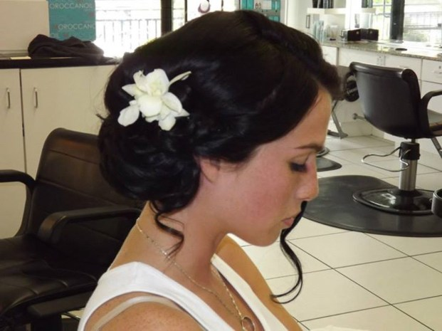 Les Ciseaux wedding hair up do and make up St. Armands