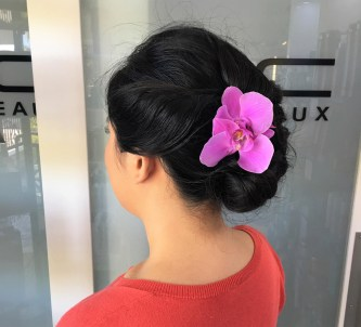 Sarasota wedding hair flowers bridal salon