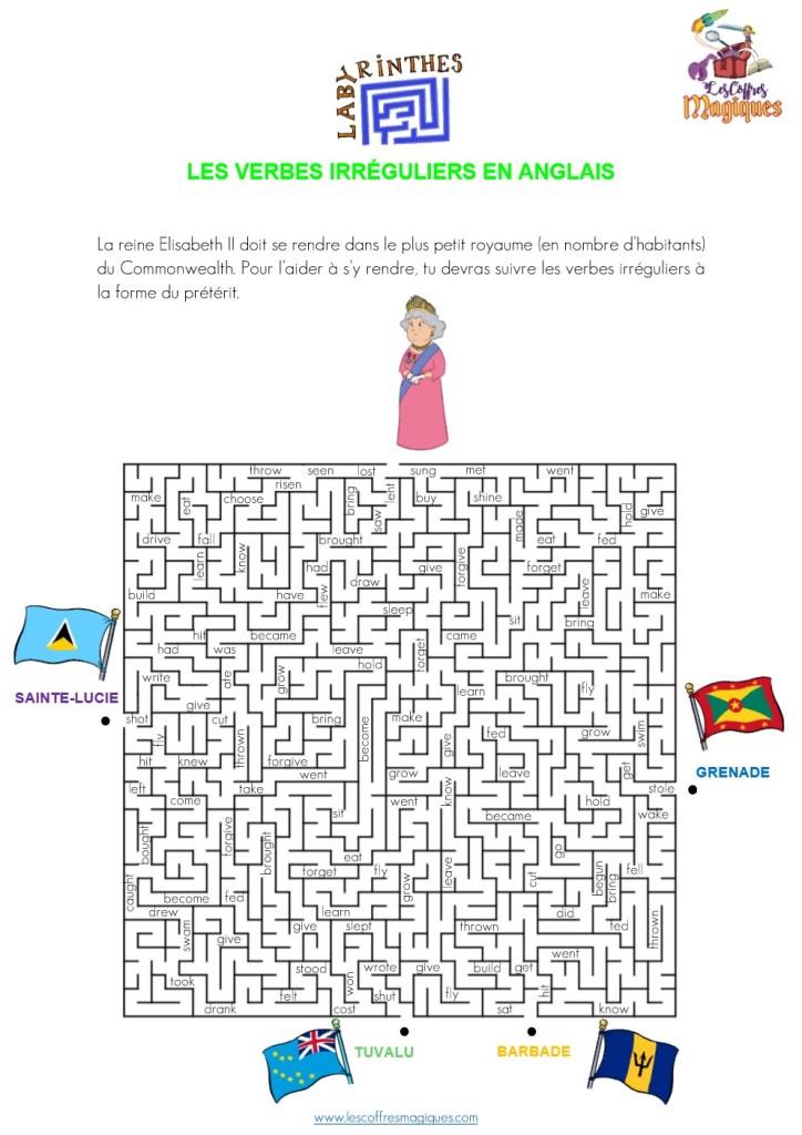Labyrinthe - LES VERBES IRRÉGULIERS EN ANGLAIS-2