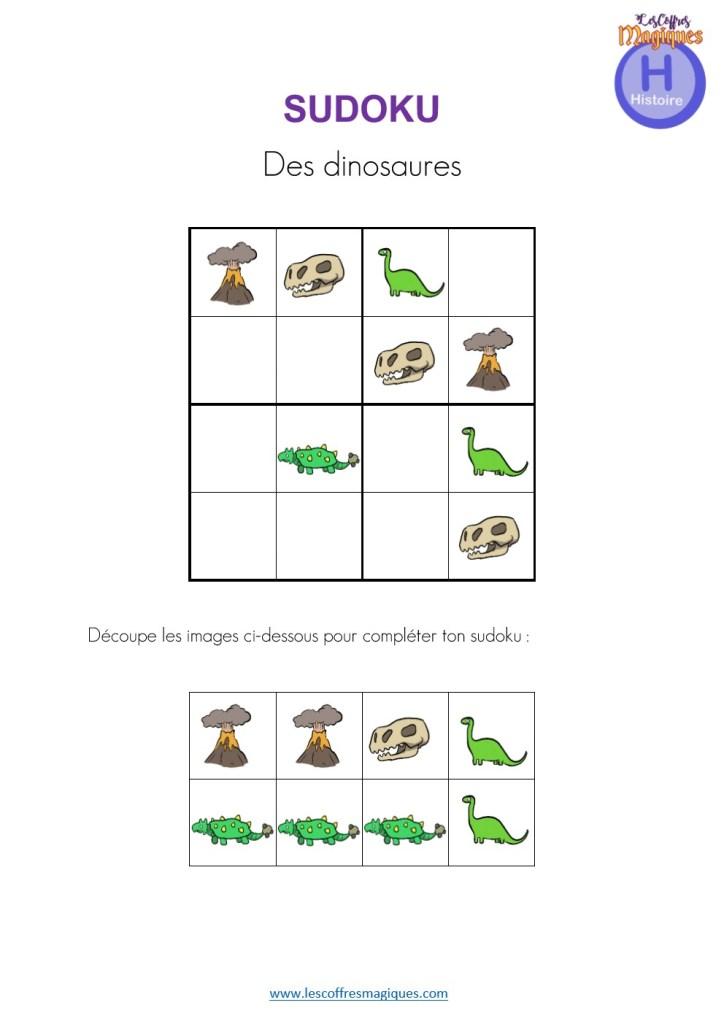 SUDOKU dinosaures