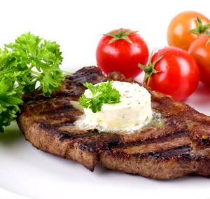 Strip Steak With Parsley Butter