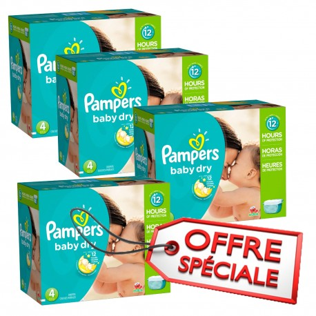 920 Couches Pampers Baby Dry Taille 4 Petit Prix Sur Les